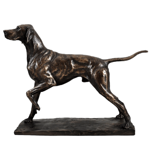 Pointer Cold Cast Bronze Sculpture